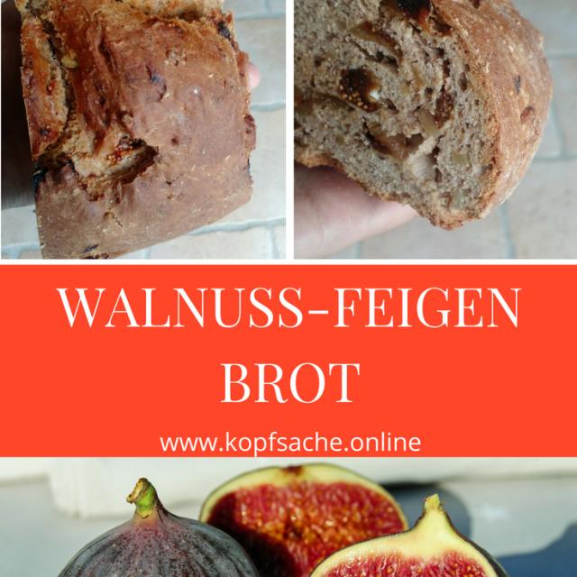 Gesundes Brot mit Walnüssen und Feigen - exotisches Brot - einfach und gesund backen