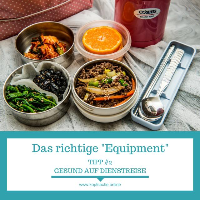 Mit dem richtigen Equipment ist gesunde Ernährung auf Dienstreise ein Kinderspiel