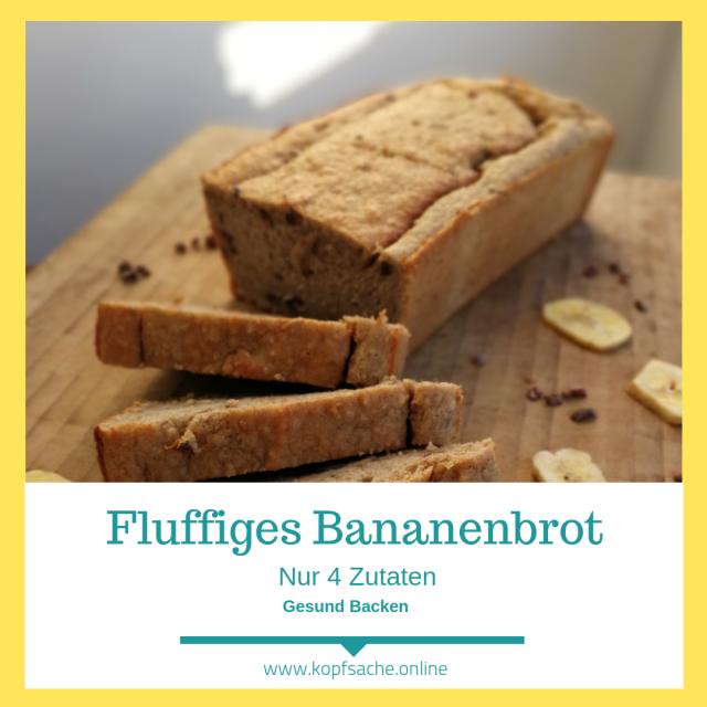 Fluffliges Bananenbrot aus nur 4 ZutatenFluffliges Bananenbrot aus nur 4 Zutaten