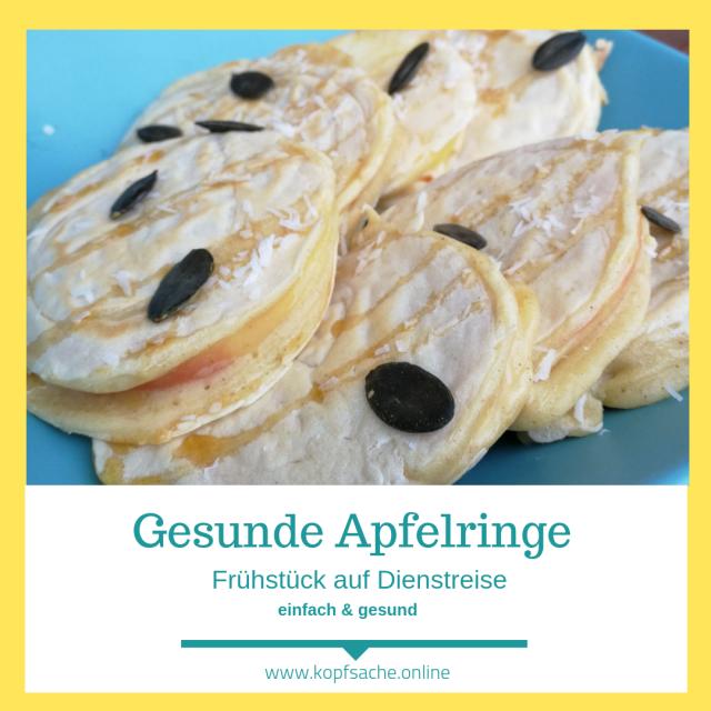 Gesunde Apfelringe Pancakes Frühstück für unterwegs